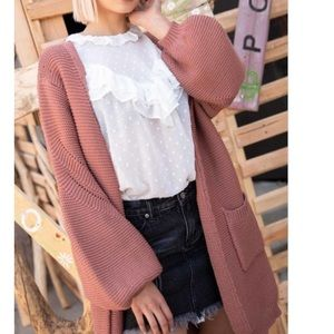 ONE LEFT!! POL Clothing Textured Open Cardi